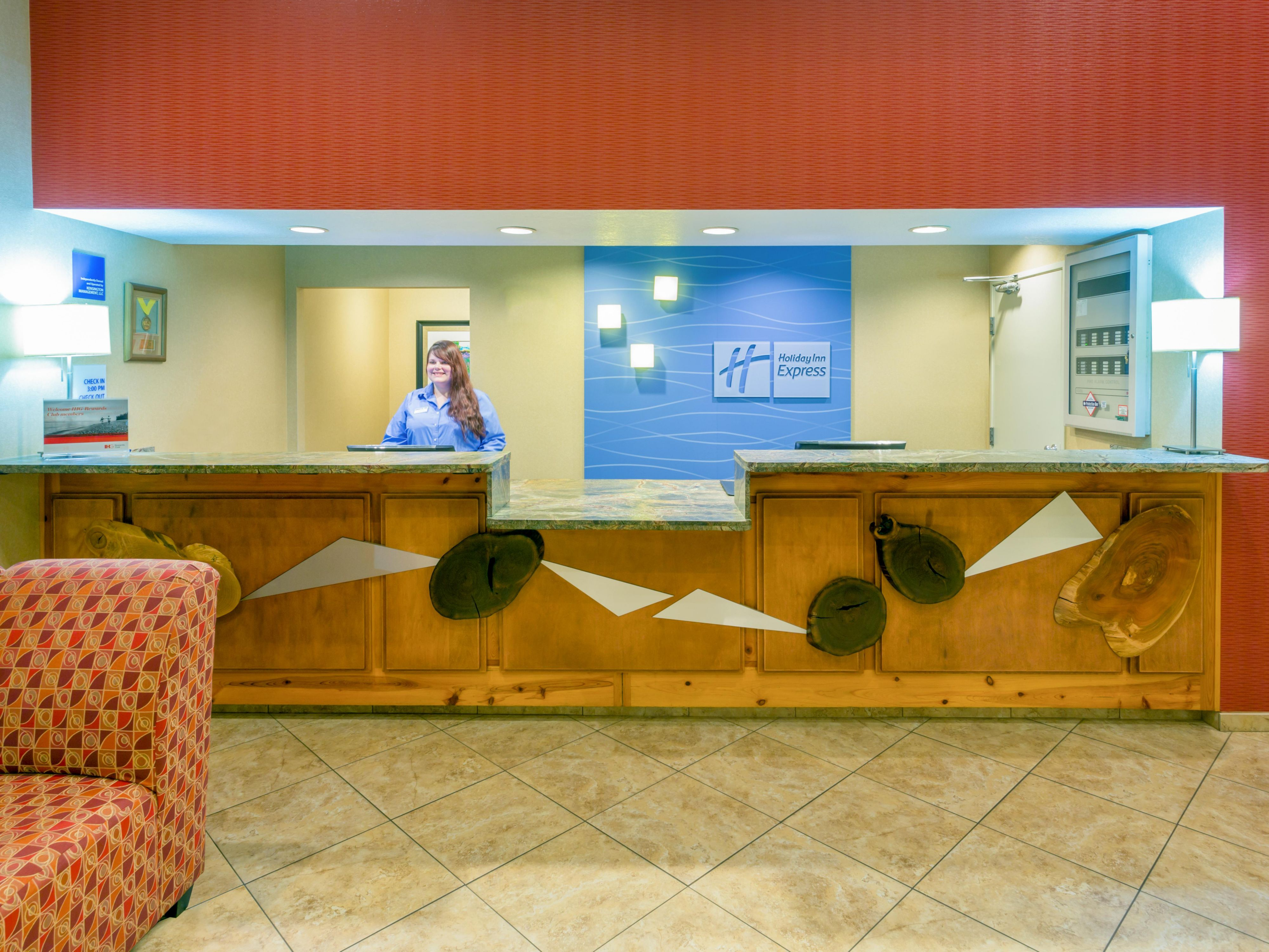 Front Desk Reception Area is here to greet you