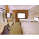 2 Queen beds with microwave and mini fridge and free WiFi