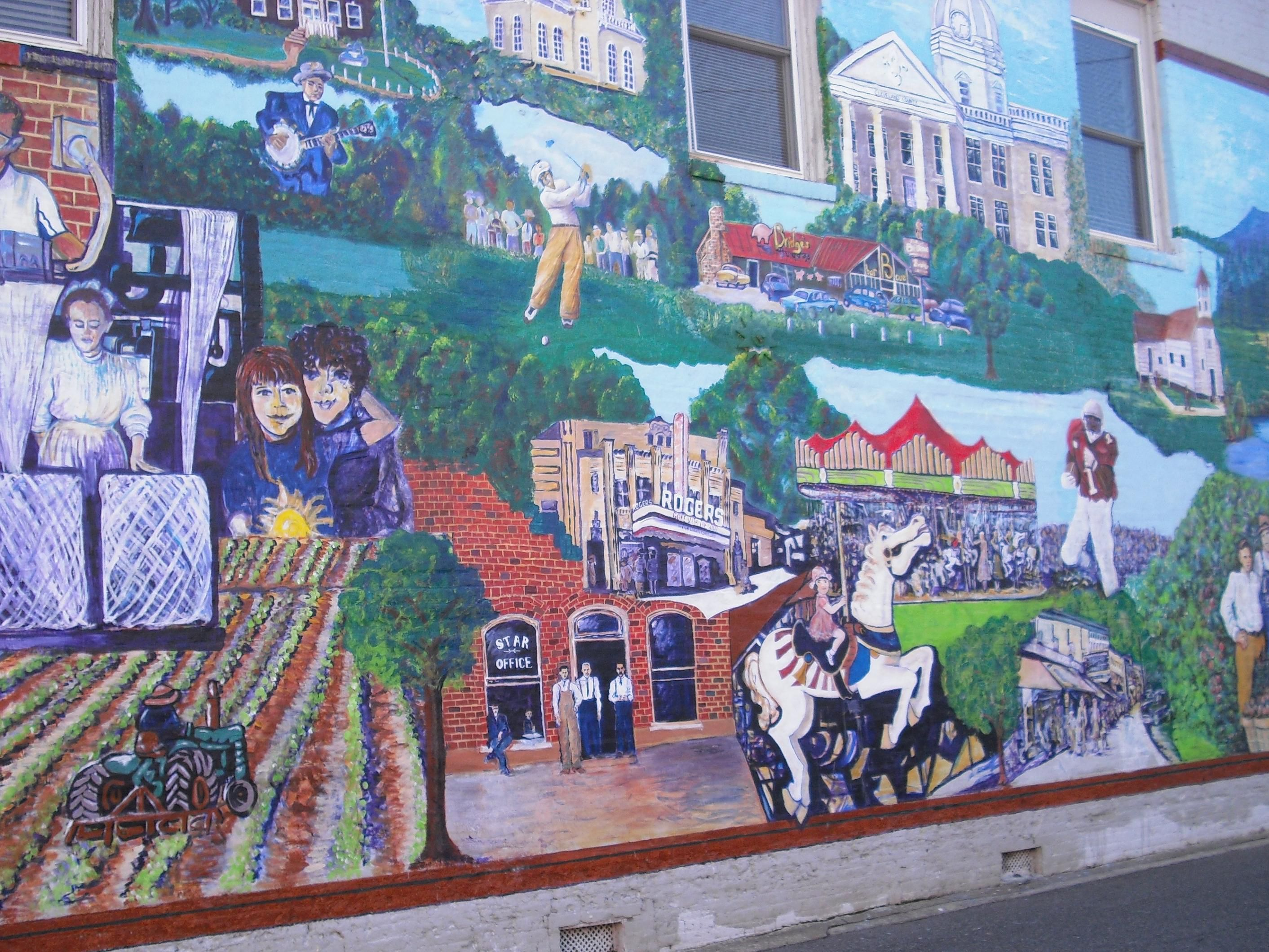 One of 4 Hand Painted Murals in our County!