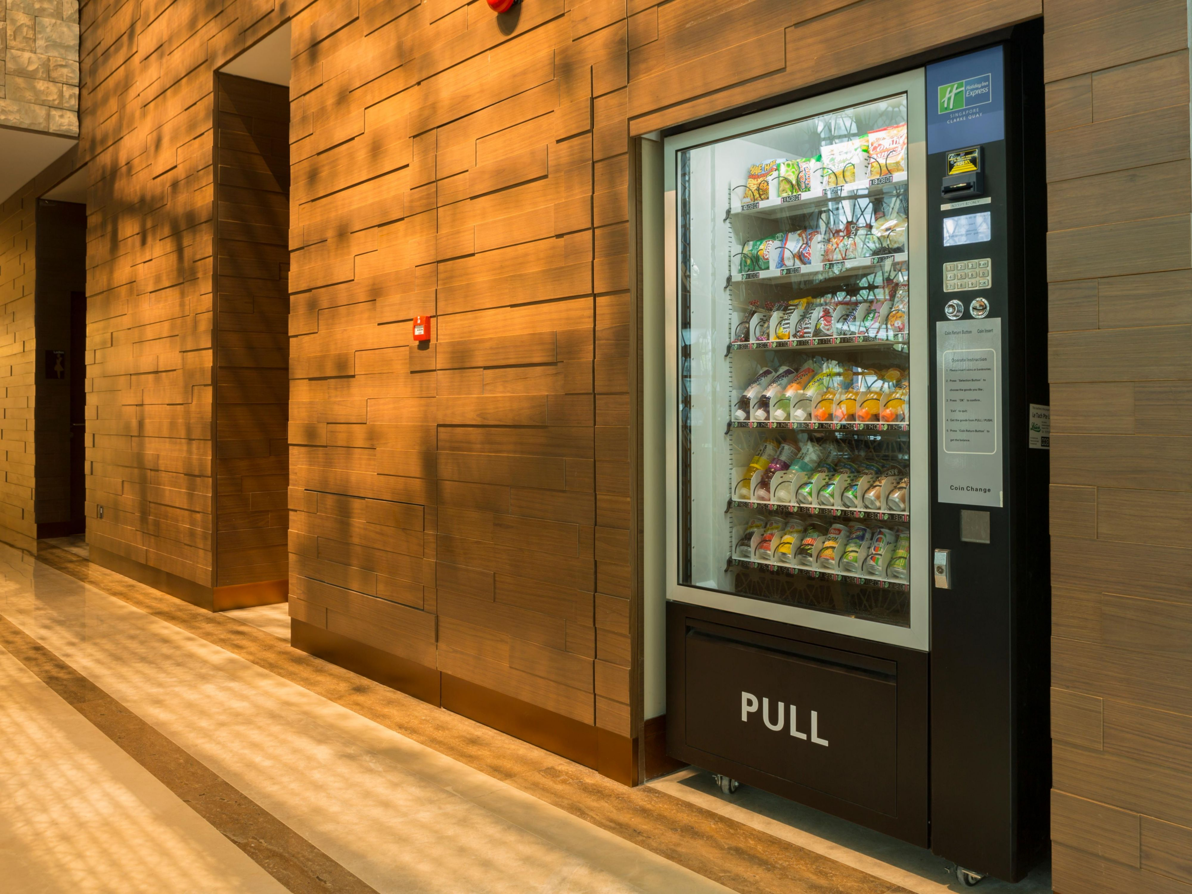 Vending Machine Located at Lobby Level