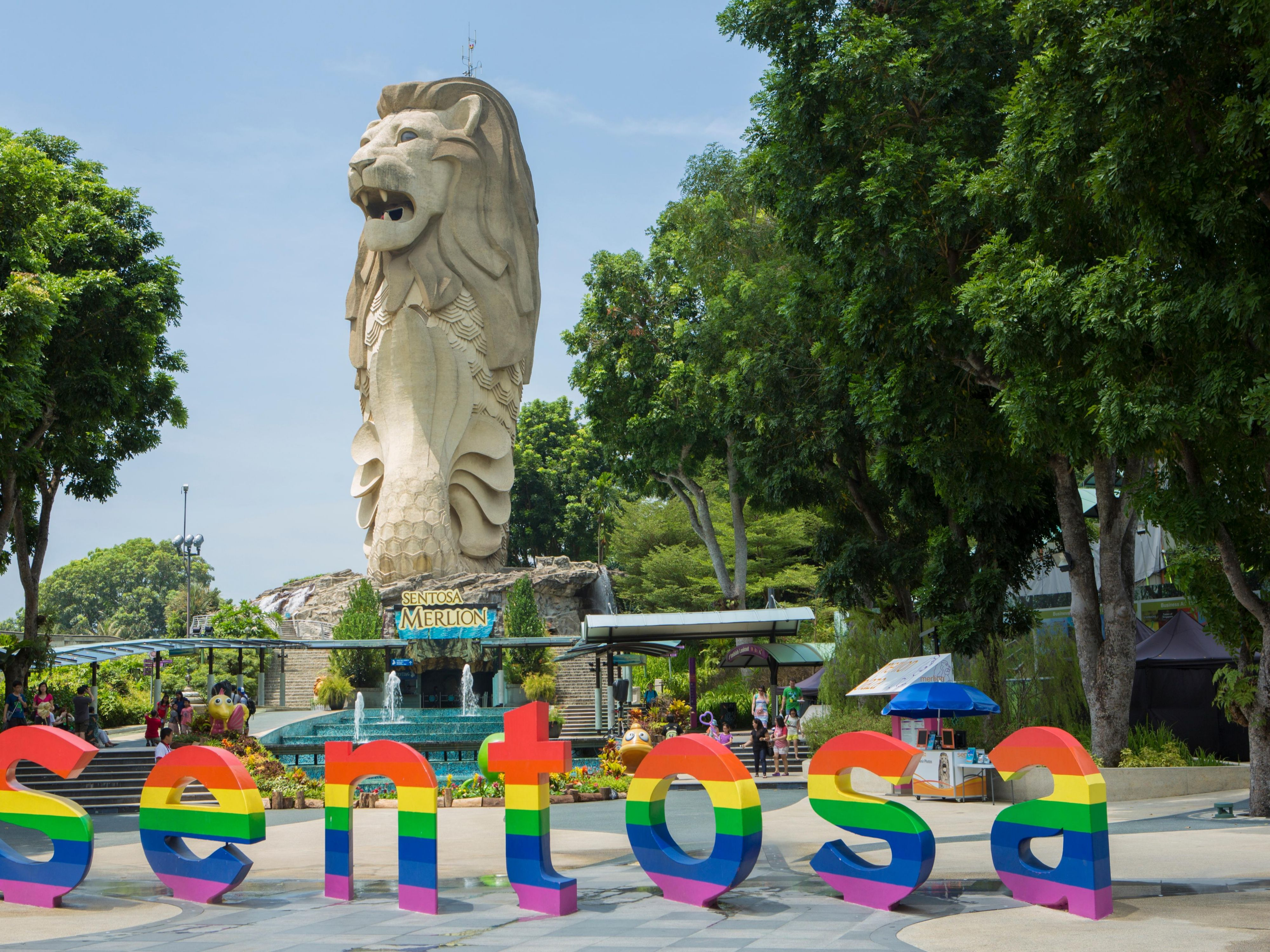 Sentosa Island is just 15 minutes drive from our hotel