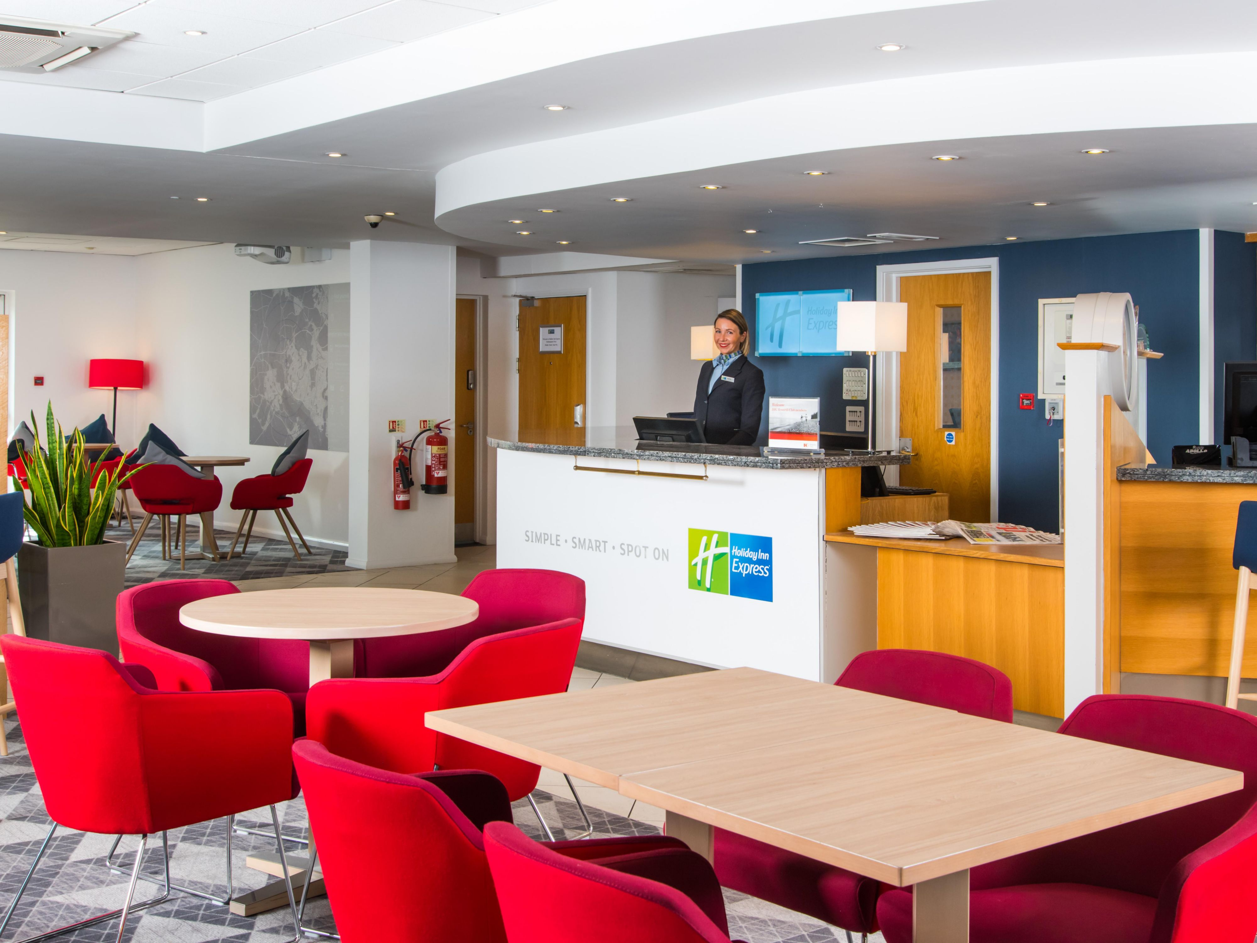 Our recently refurbished lounge is bright and modern
