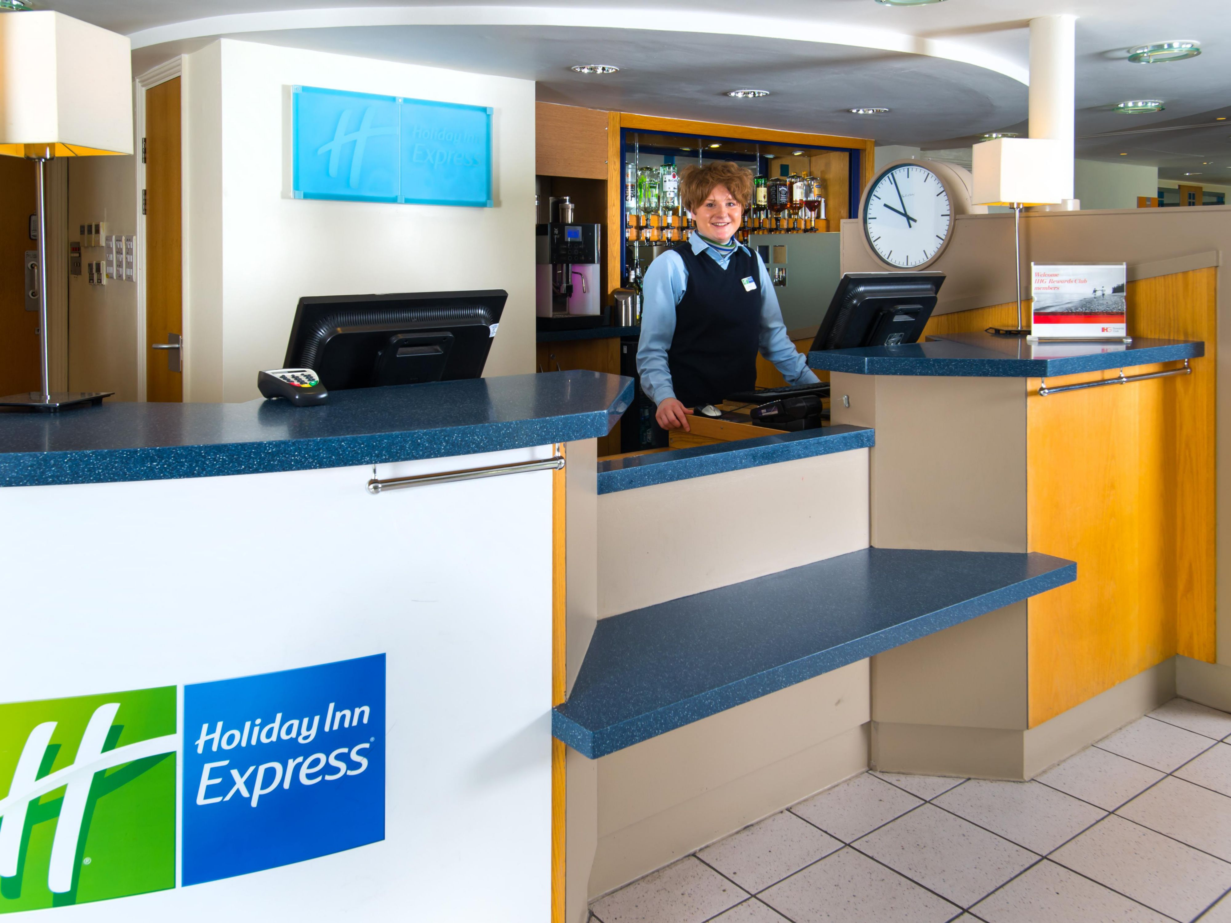 A warm welcome awaits at our Holiday Inn Express hotel in Stafford
