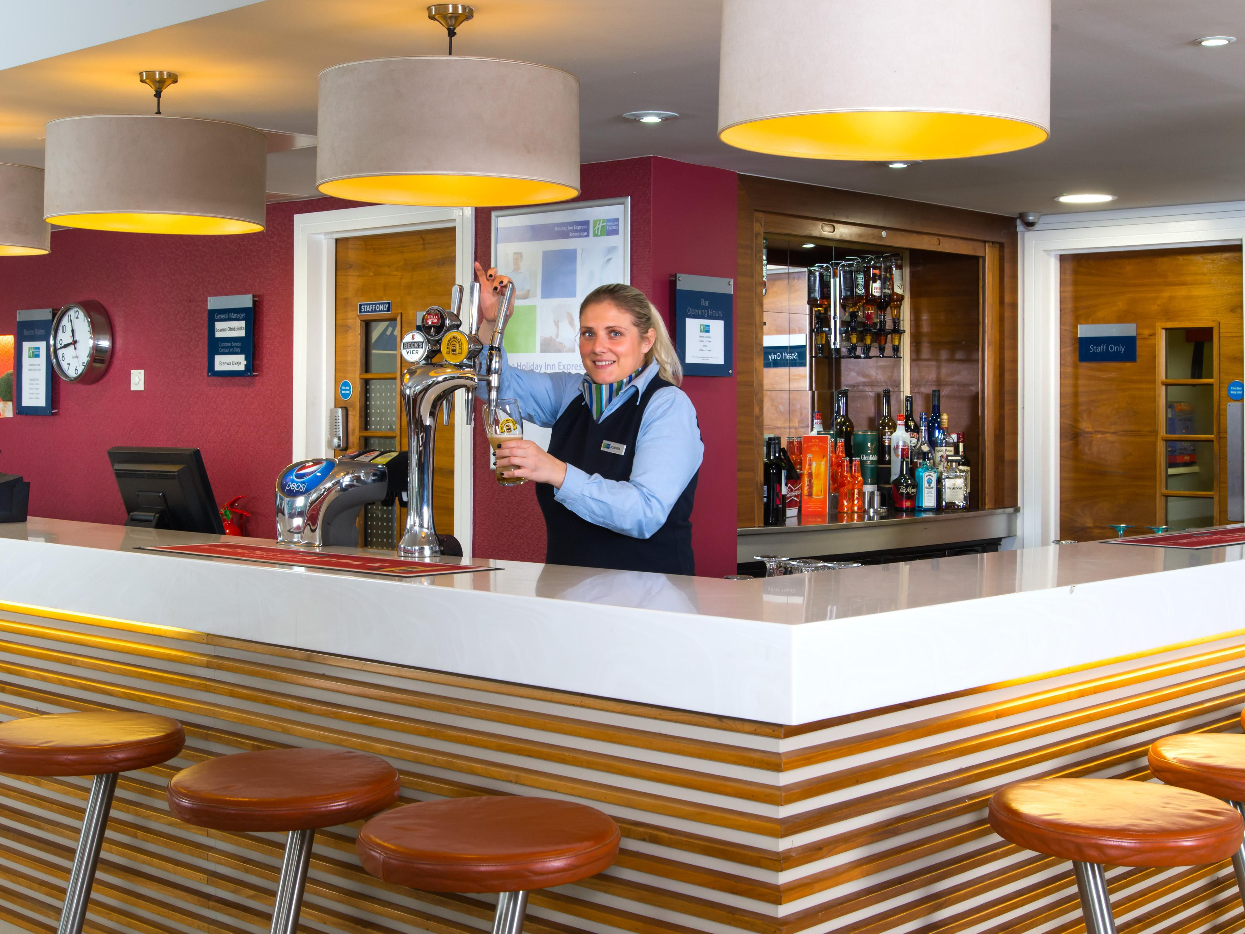Treat yourself to a refreshing drink from our bar