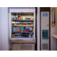 Peckish? Pick up a snack from our vending fridge