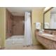 Sacramento Aiport Holiday Inn Express Woodland Guest Bathroom