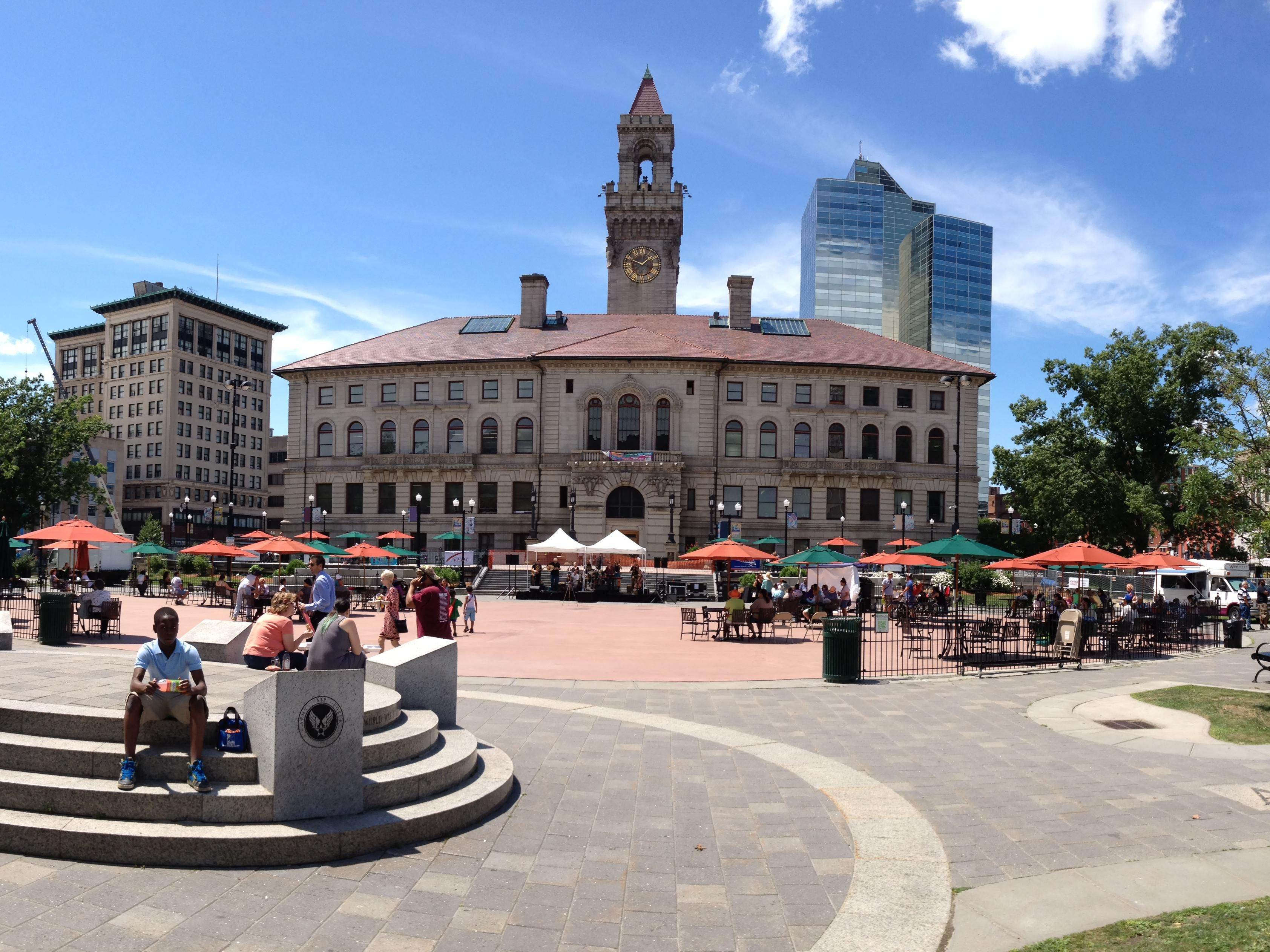 Worcester City Hall Plaza