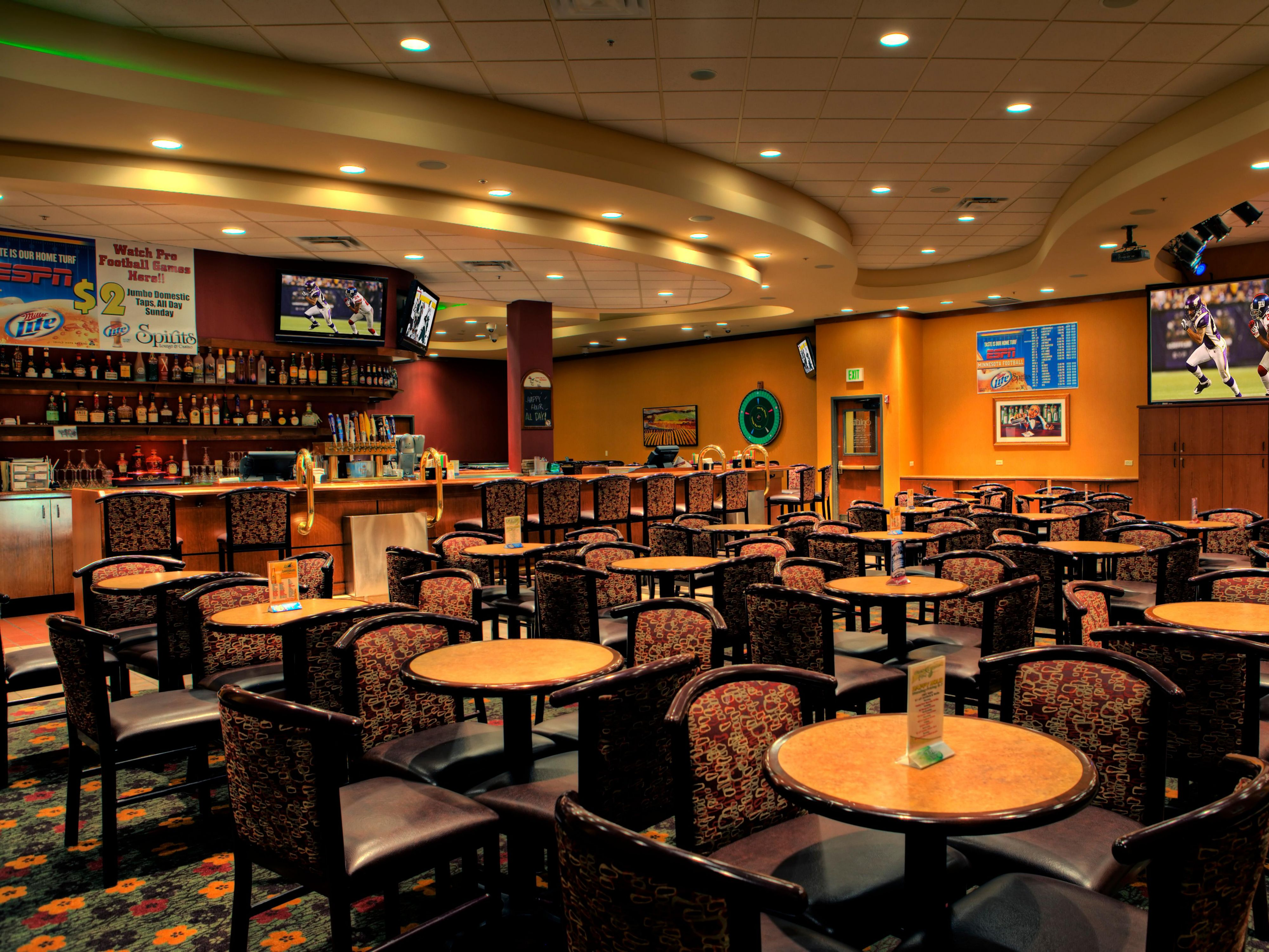 Enjoy watching your favorite sports in our lounge.