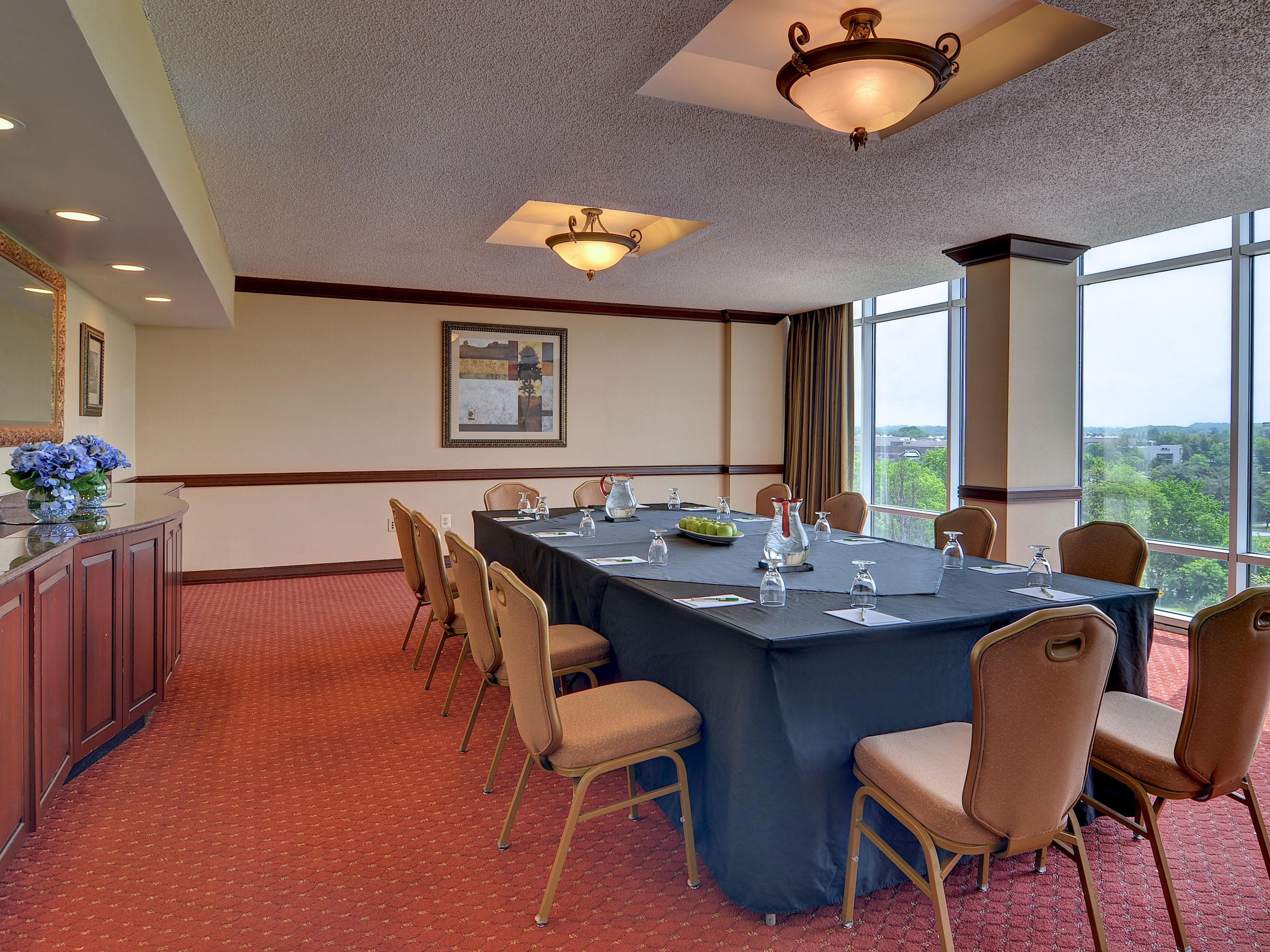 Enjoy ample natural lighting during your meeting.