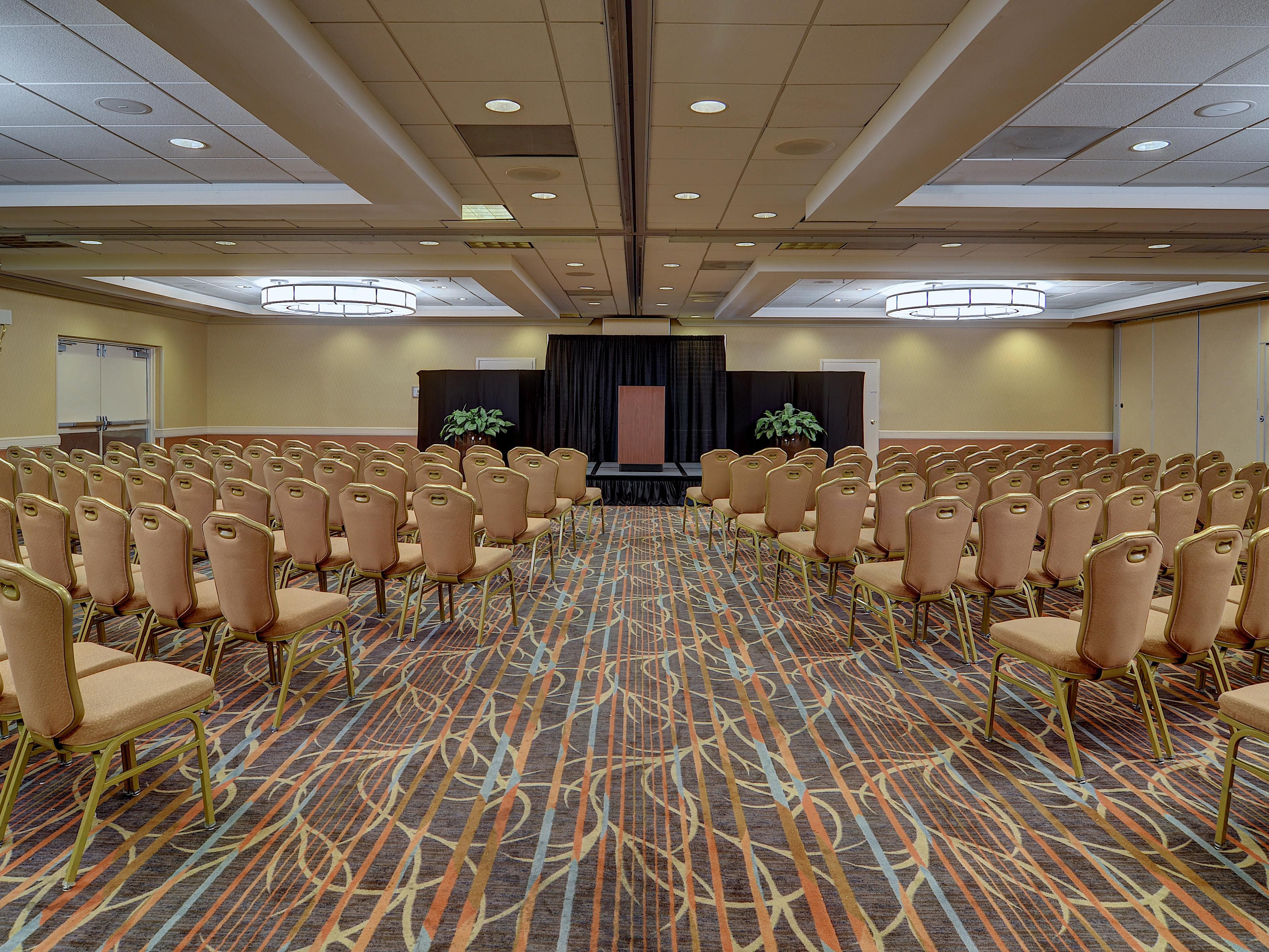 Our spacious meeting rooms can hold large and small meetings.