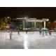 Downtown visitors and residents enjoy skating in Rosa Parks Circle