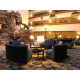 Make yourself comfortable in our unique lobby with waterfall.