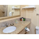 Guest bathroom with granite counter tops.
