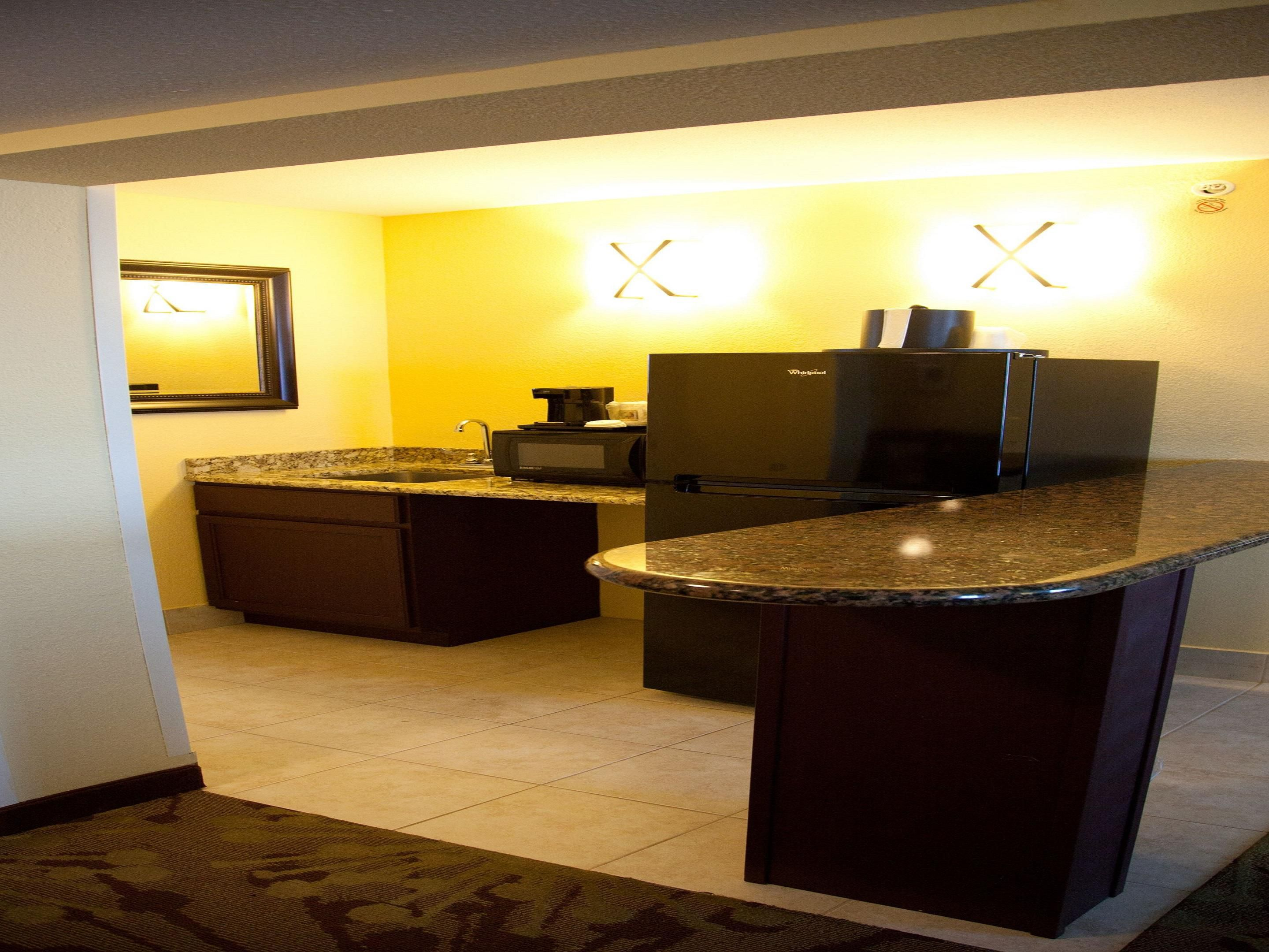 Kitchen area in Presidential Suite