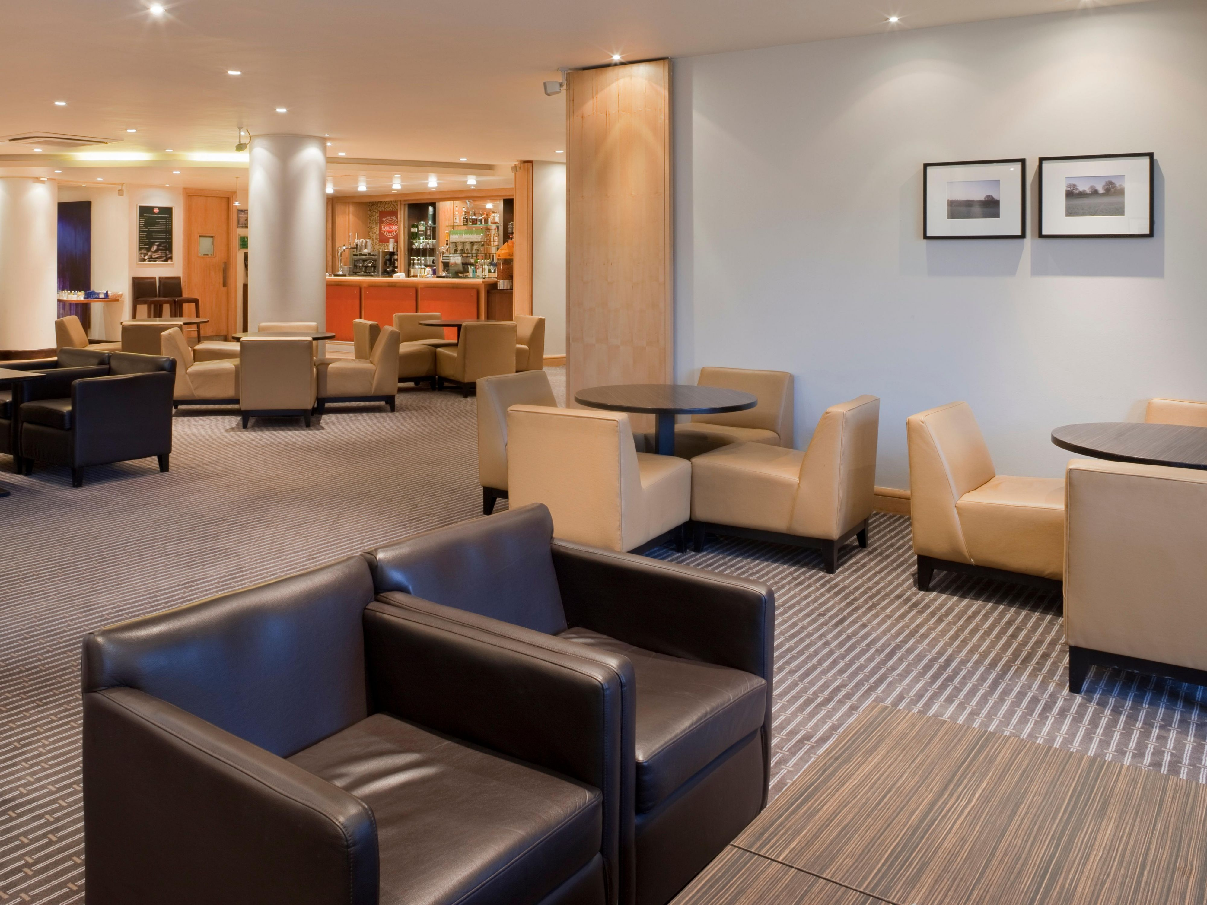 Enjoy a Starbucks in our Bar Lounge area