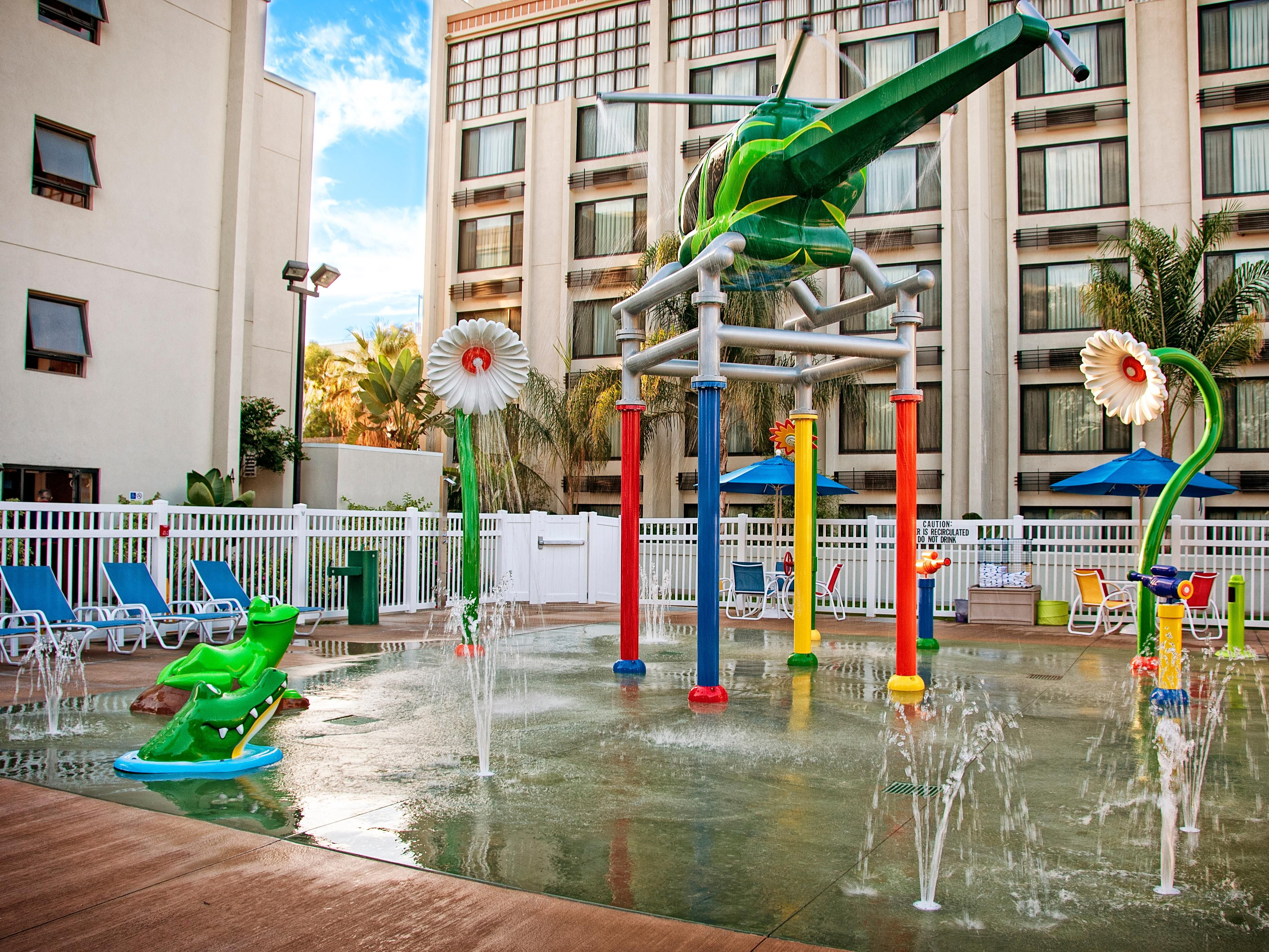 Get wet in our exhilarting Splash Zone