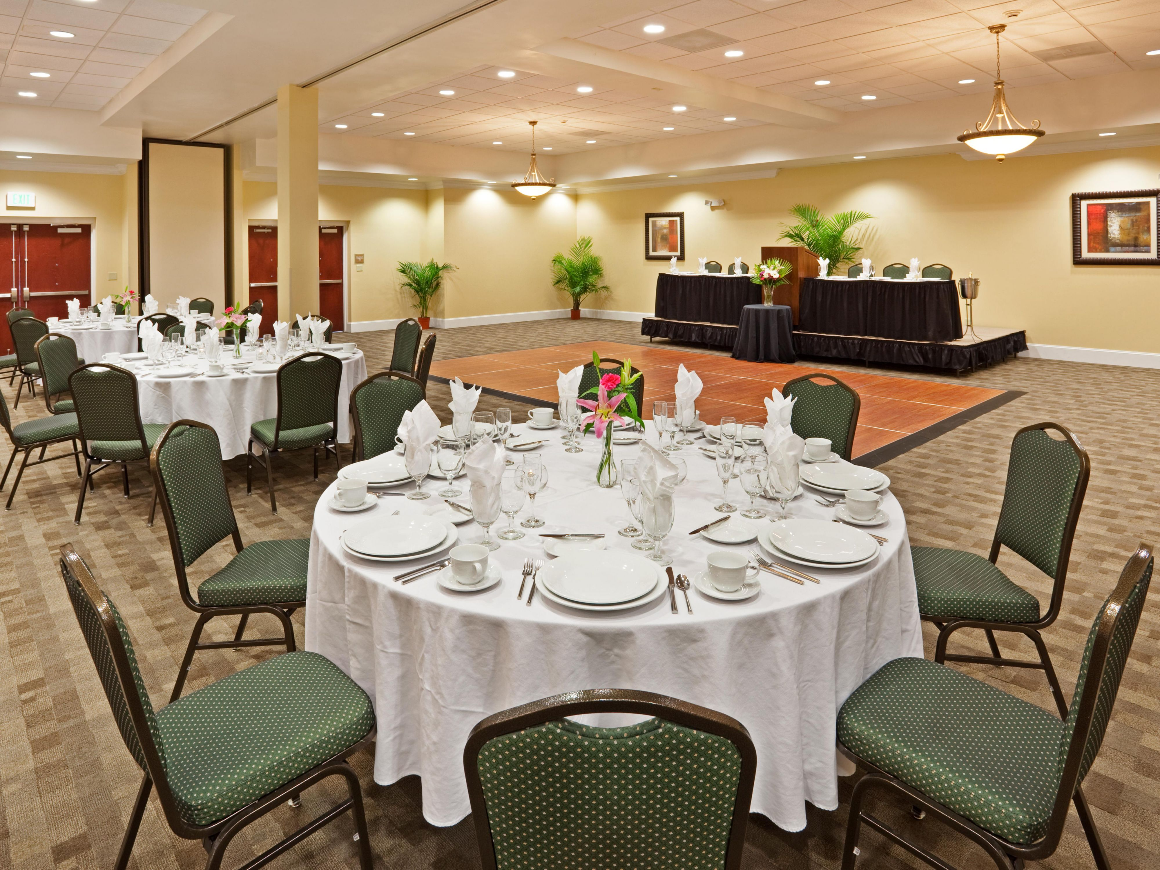 The Ballroom accommodates events up to 300 guests
