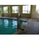 Swimming pool is handicap accessible with our hydrolic lift