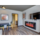 Unique living area with fireplace;northwater suite features abound