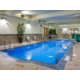 Indoor pool maintained at 80 degrees year round