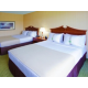 2 Queens guest room with triple sheeting and 32' LCD TV