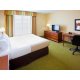 King accessible room with extra space and 32' LCD TV