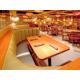 Inviting booth seating at Houlihan's Restaurant + Bar