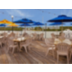 Enjoy waterfront dining at our on-site restaurant Jimmy Guana's