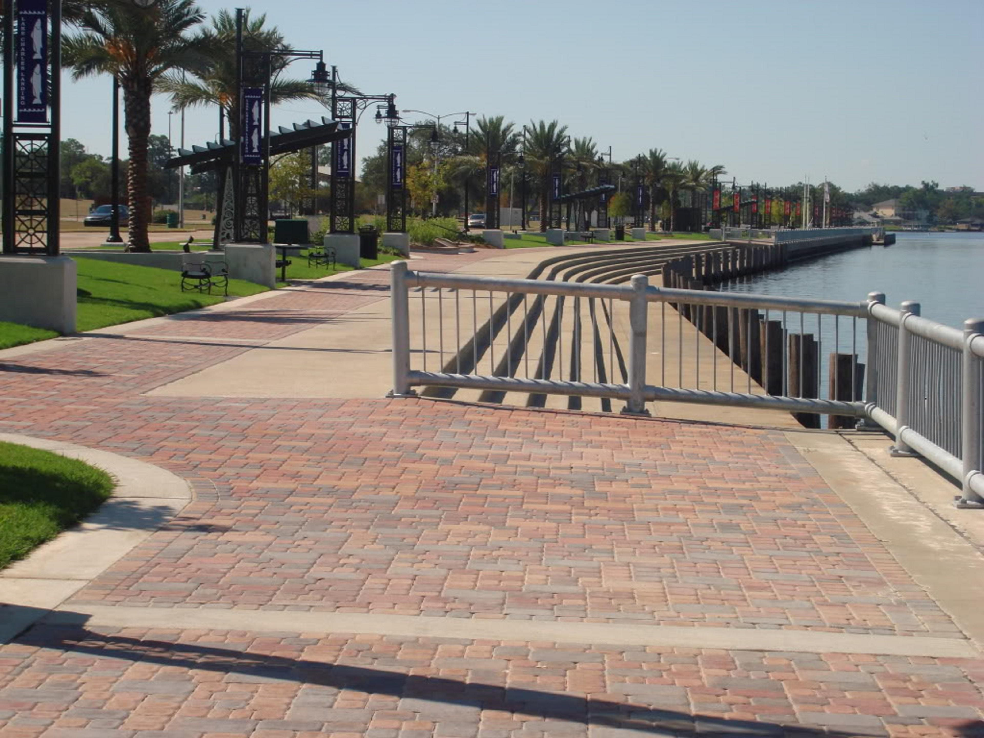 Lakefront boardwalk