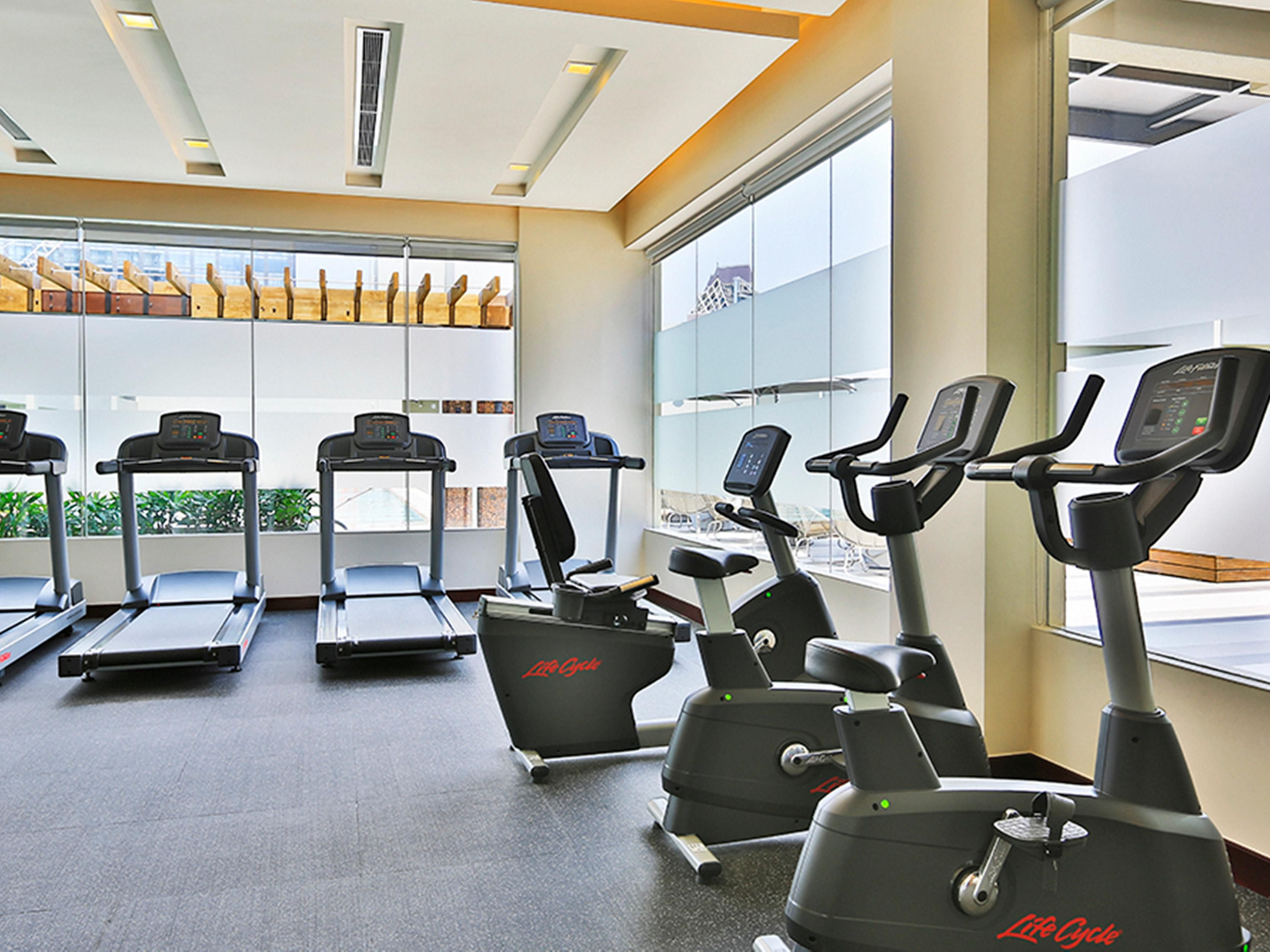 Our fully-equipped Fitness Center is located at the roof deck