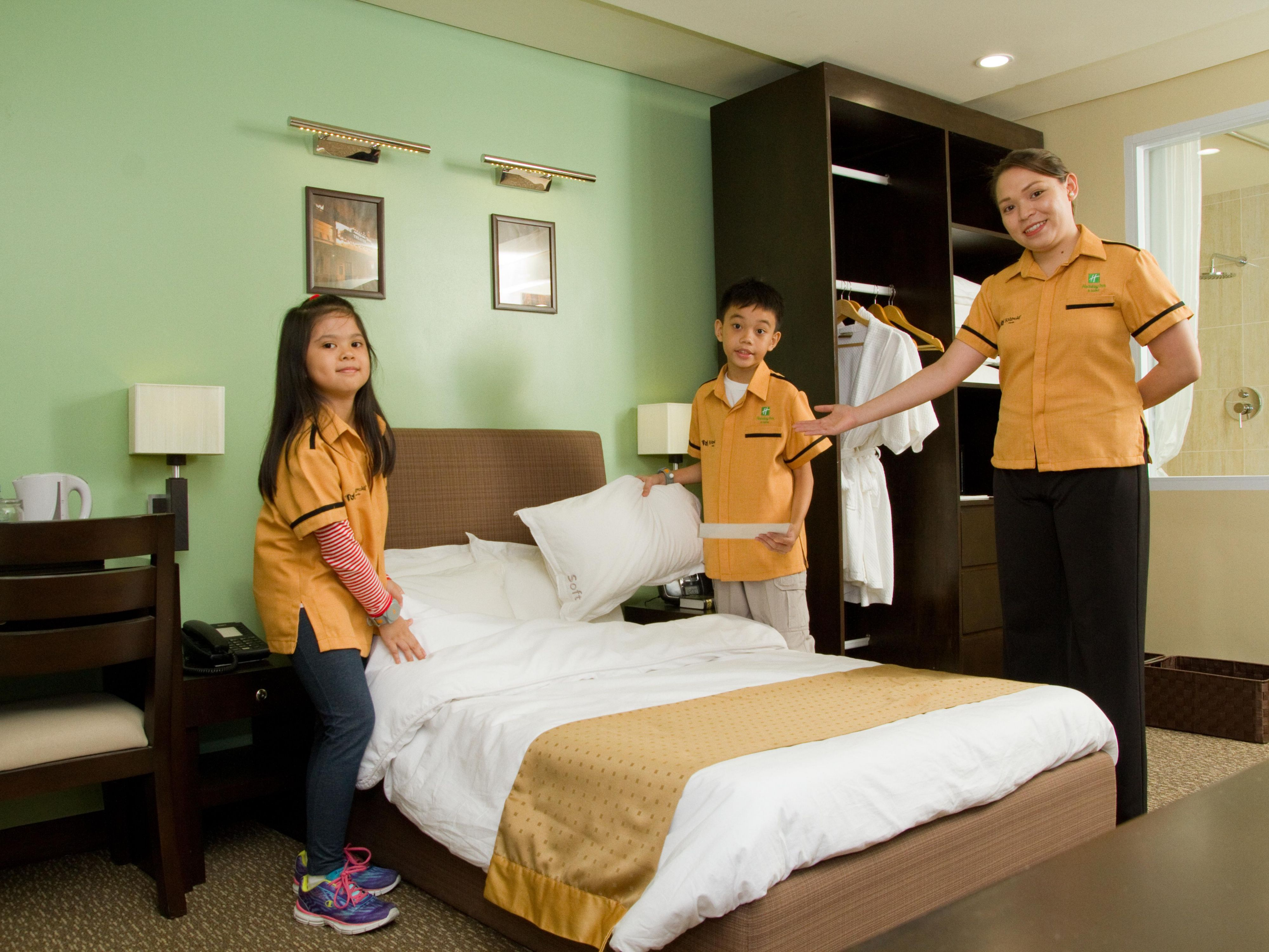 Kids will learn how to make a Holiday Inn bed at KidZania Manila