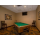 Spacious Pool Table Room with Large Flat Panel TV