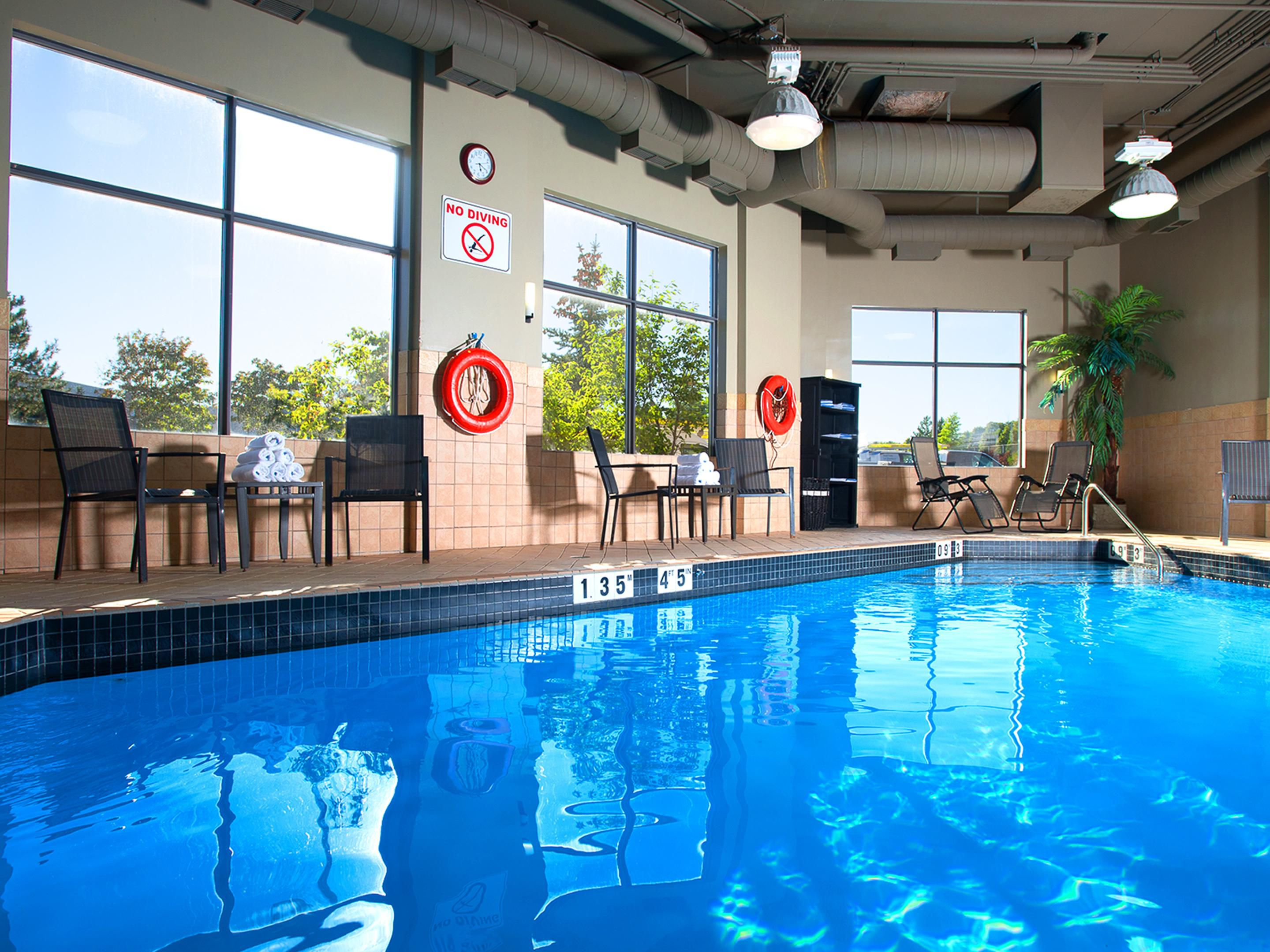 Heated Indoor Swimming Pool at the Holiday Inn  Mississauga