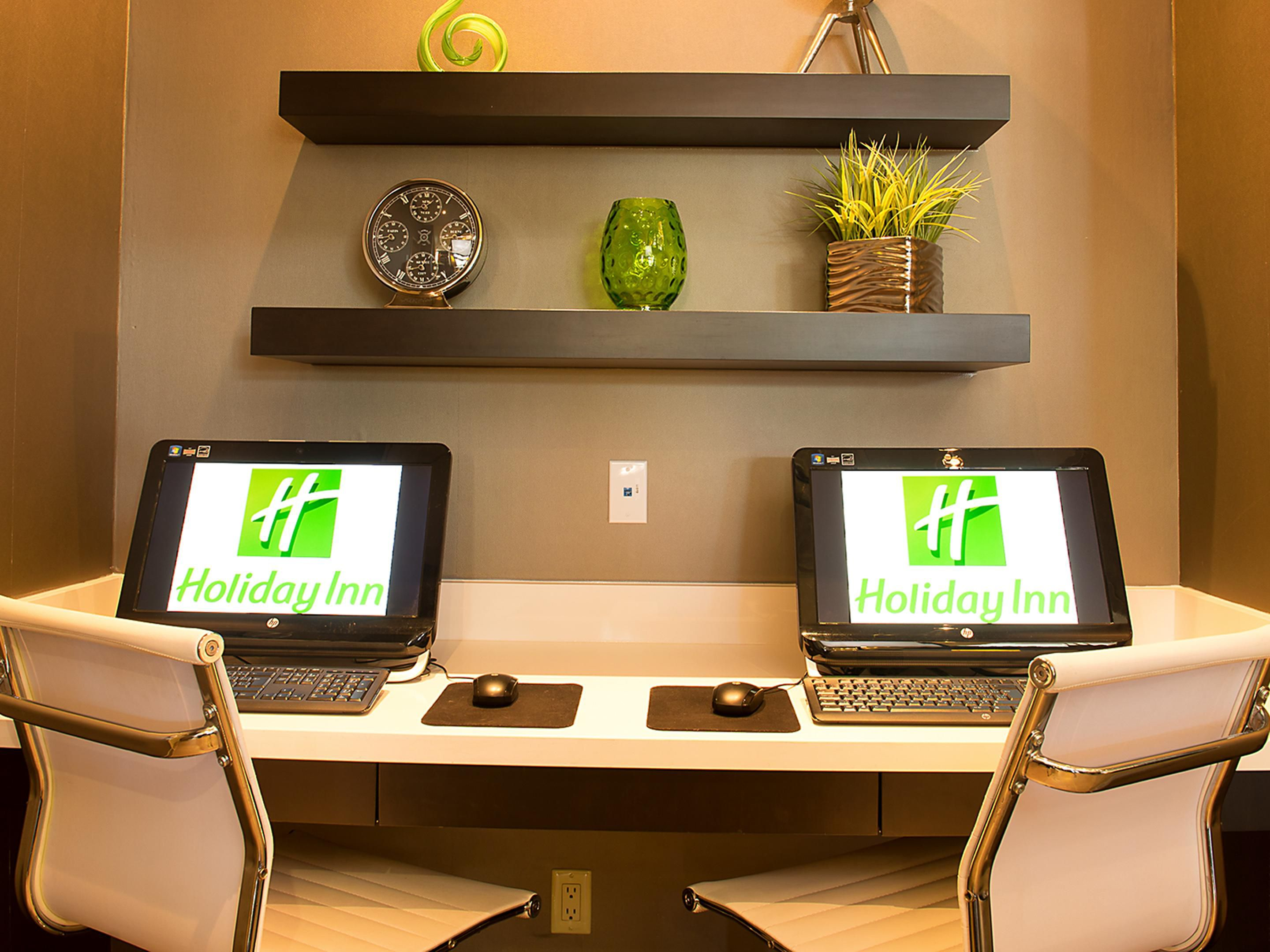 Business Center in our lobby at the Holiday Inn Mississauga