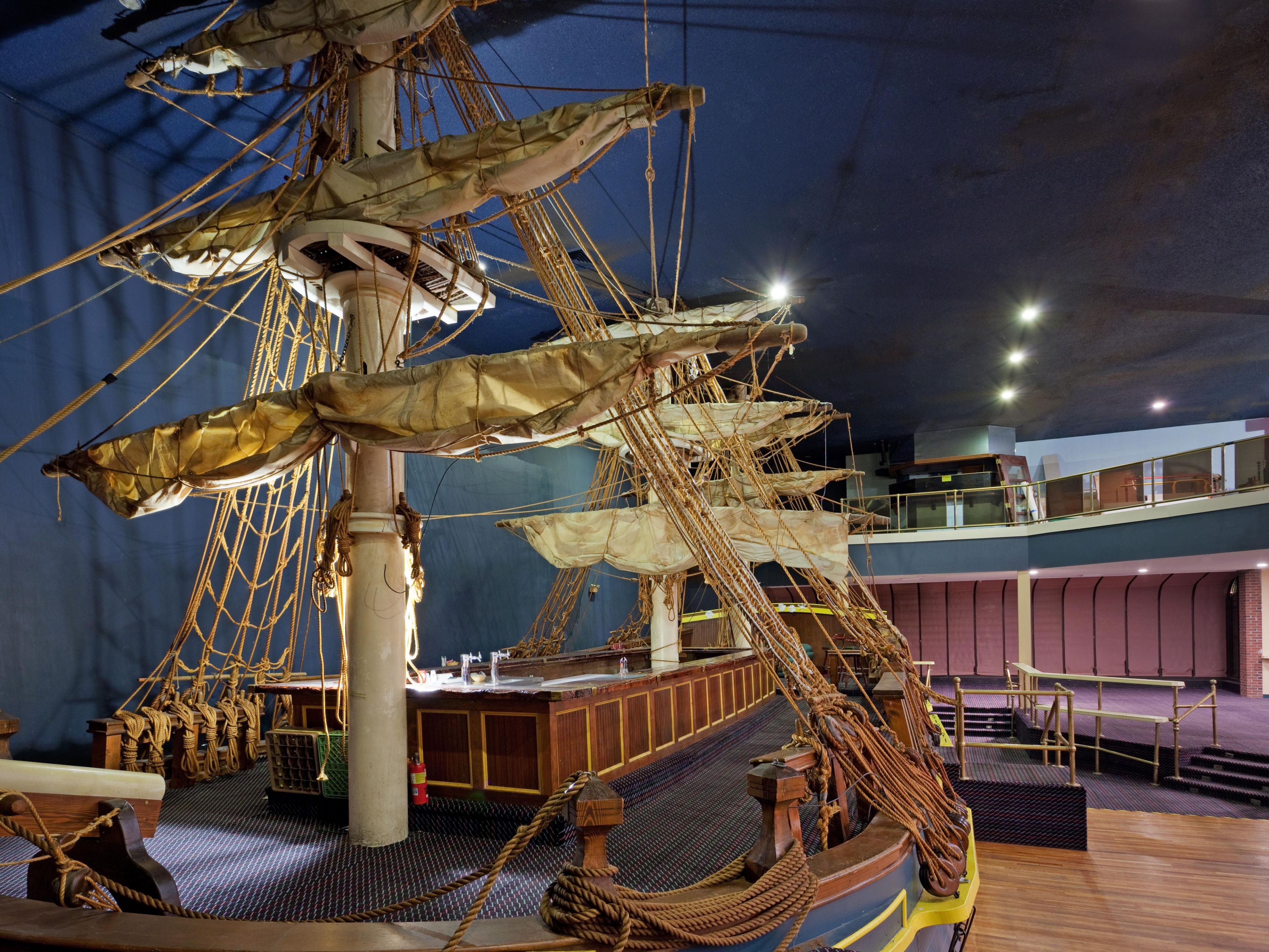 The Bounty, the area's only indoor ship.