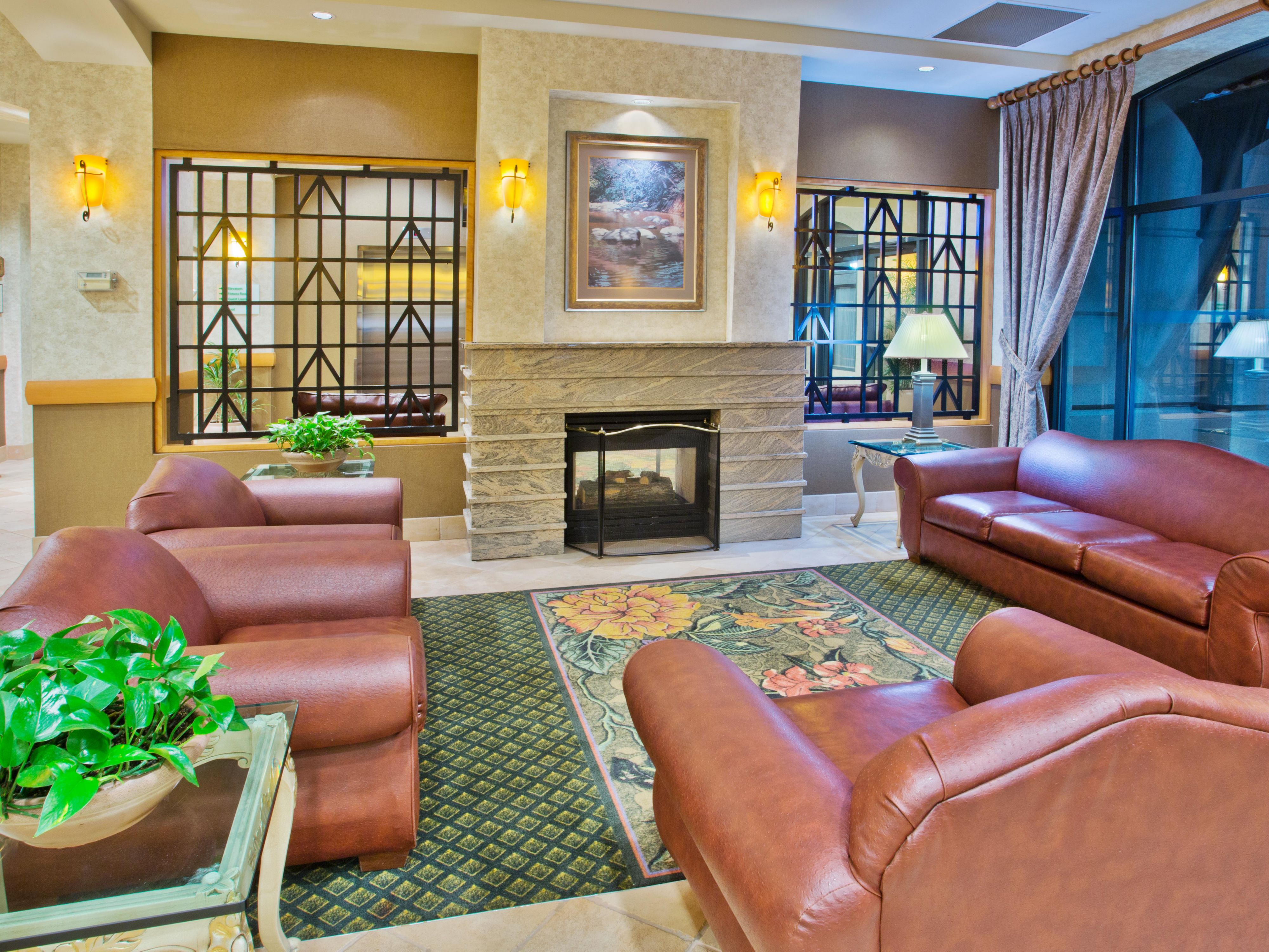 Relax and enjoy our lobby lounge