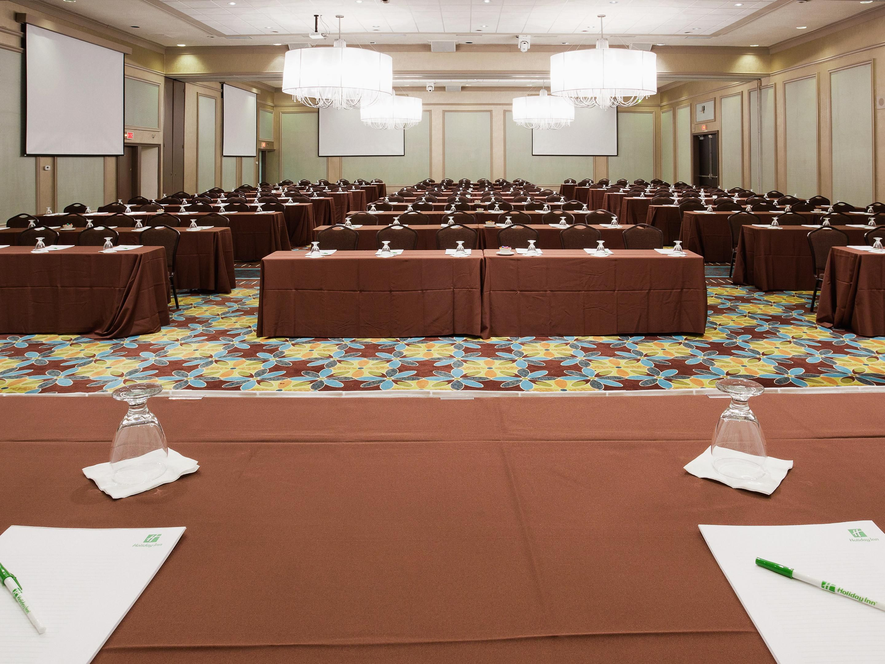 Business Meeting classroom set-up in Champagne Ballroom