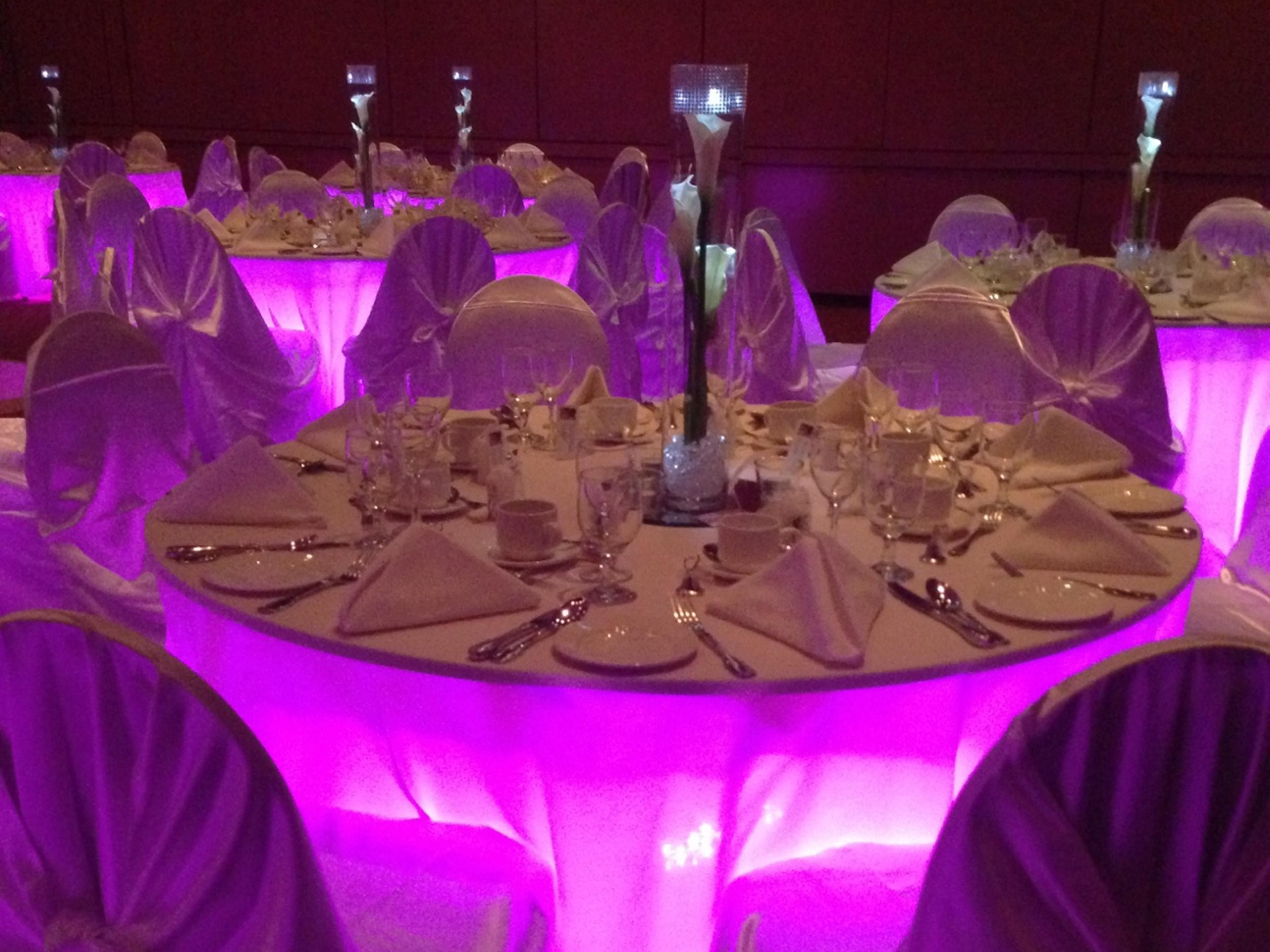 Wedding and Gala dinner set-up