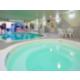Swimming pool, water slide and whirlpool
