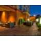 Enjoy the night air on our splendid guest patio.