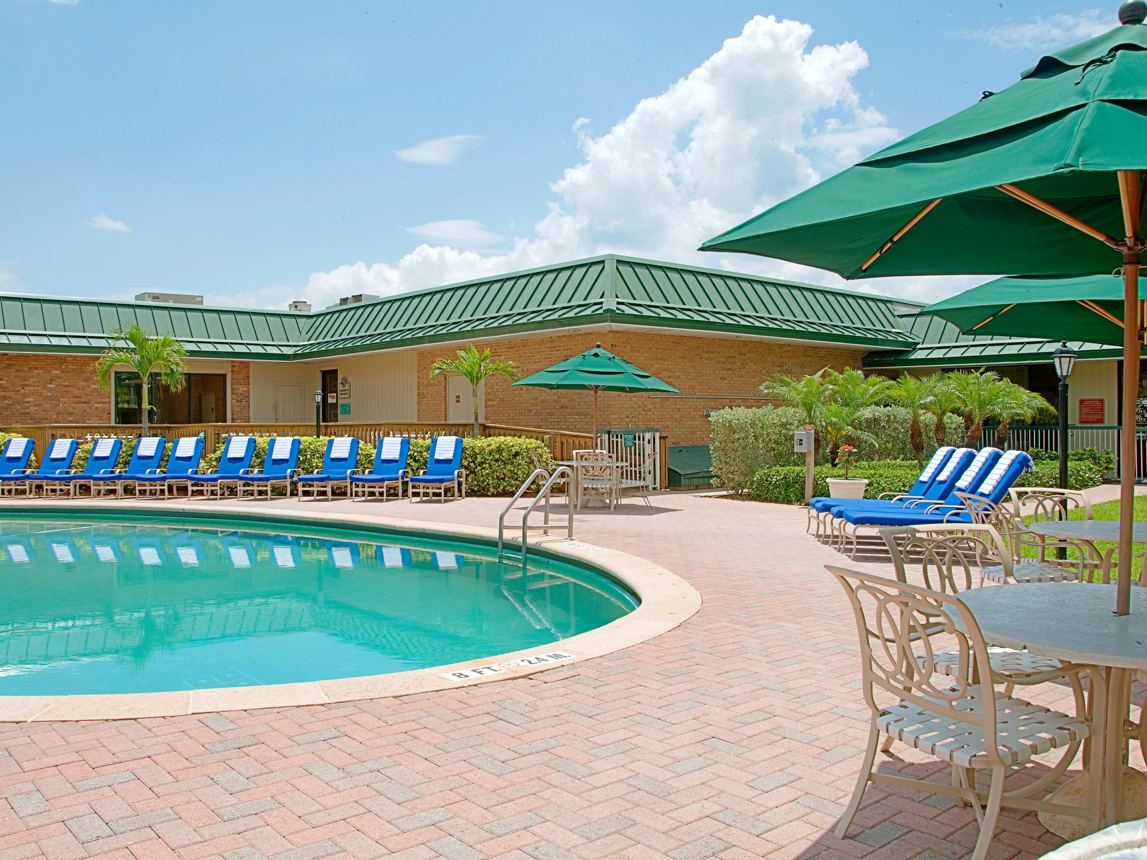 Enjoy our heated pool