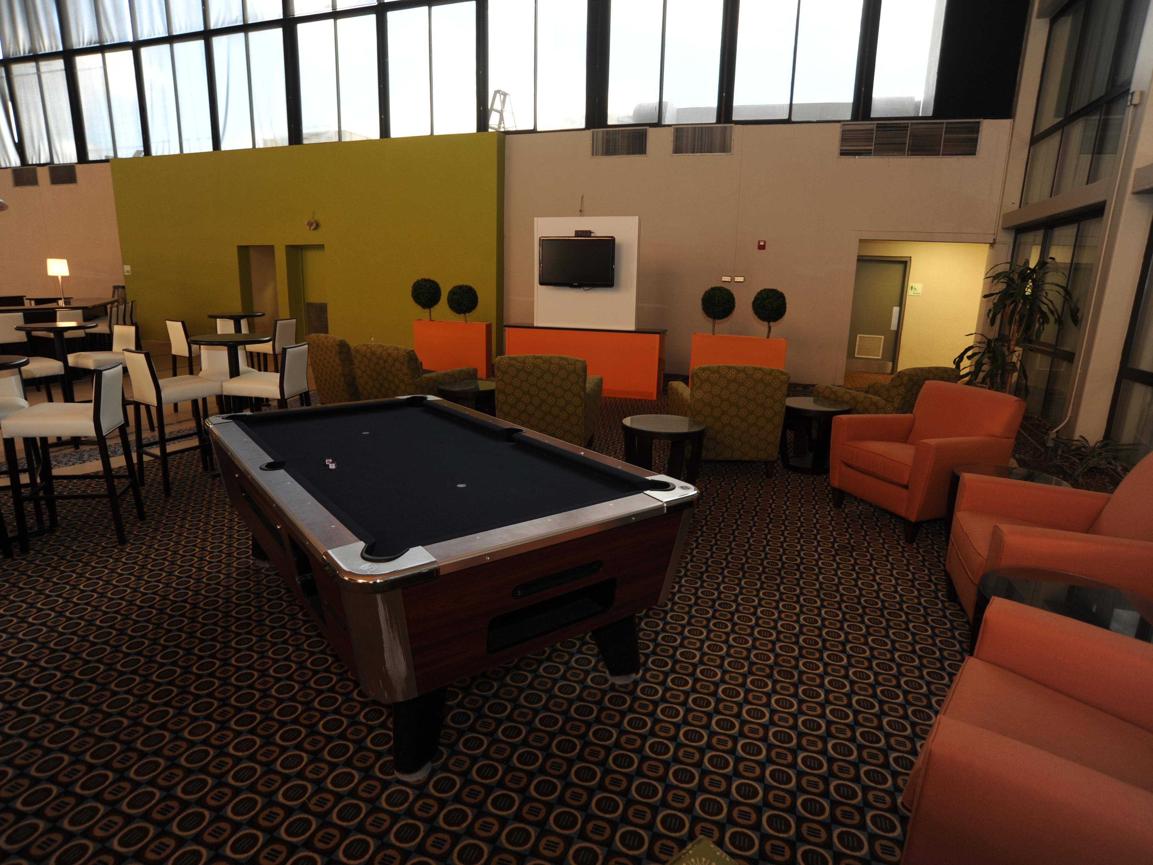 Brand new lounge with pool table