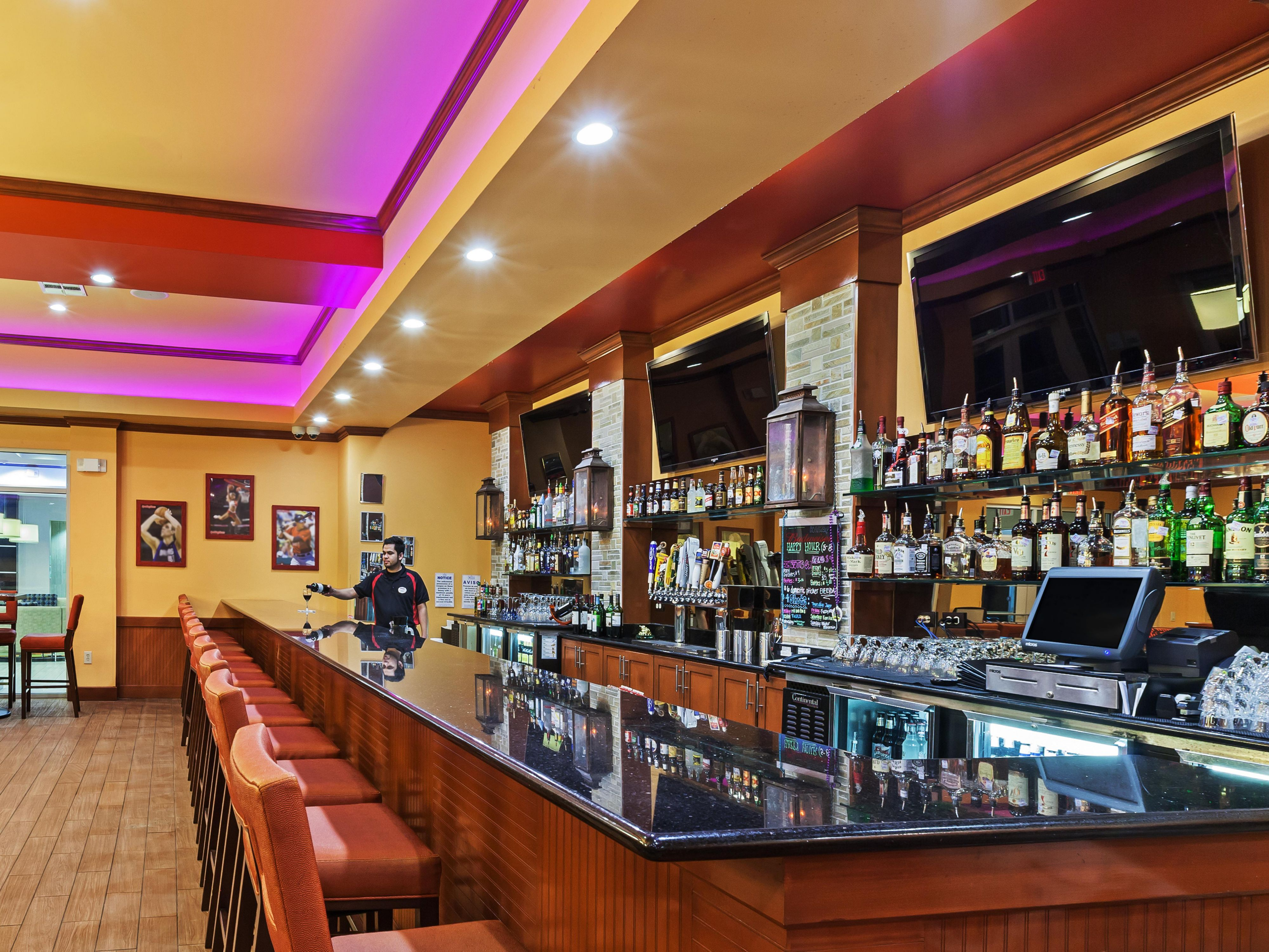 Grab a drink at our Bar and Lounge
