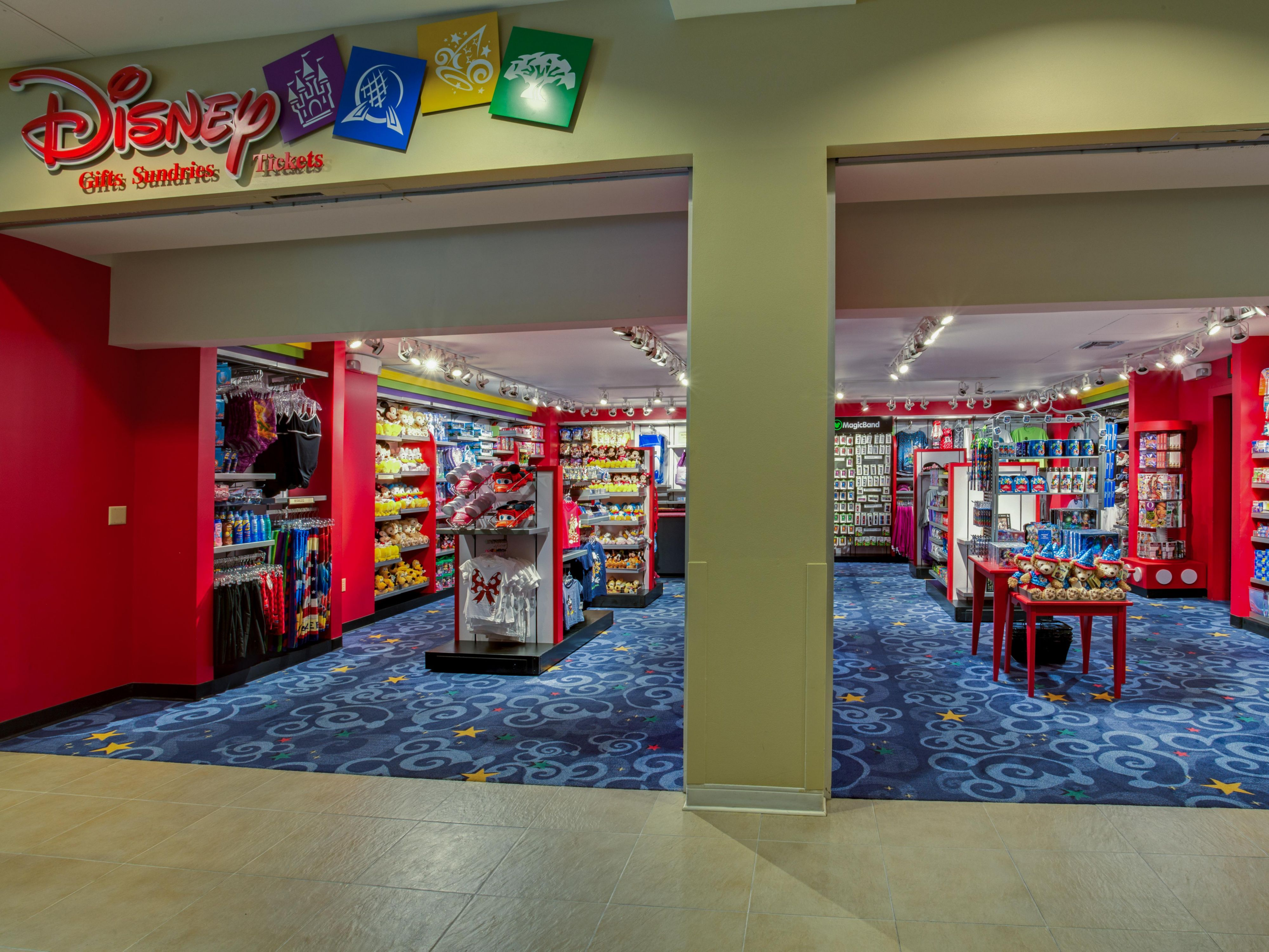 Disney Store in atrium for tickets and merchandise