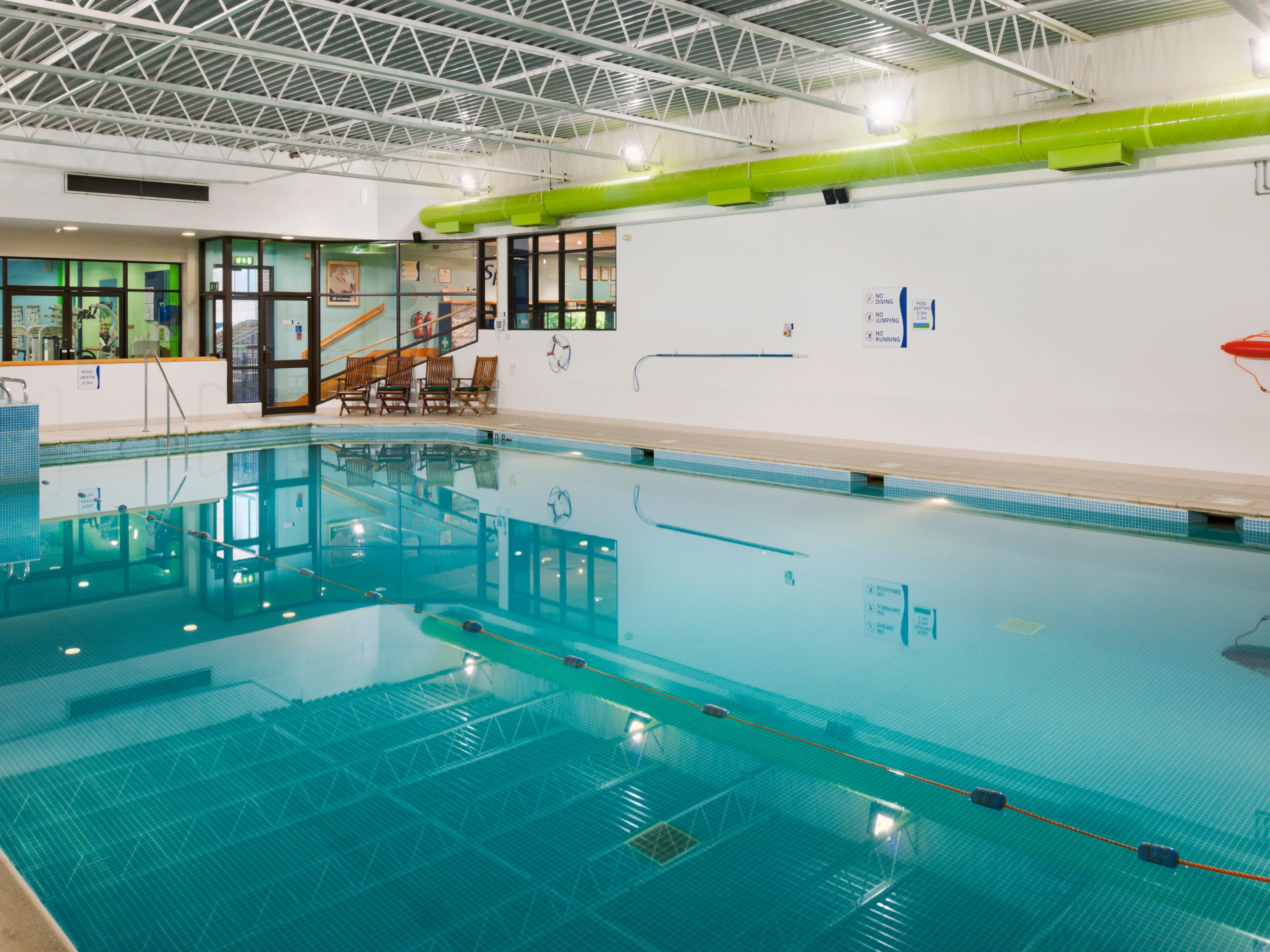 Enjoy a few lengths in our indoor pool