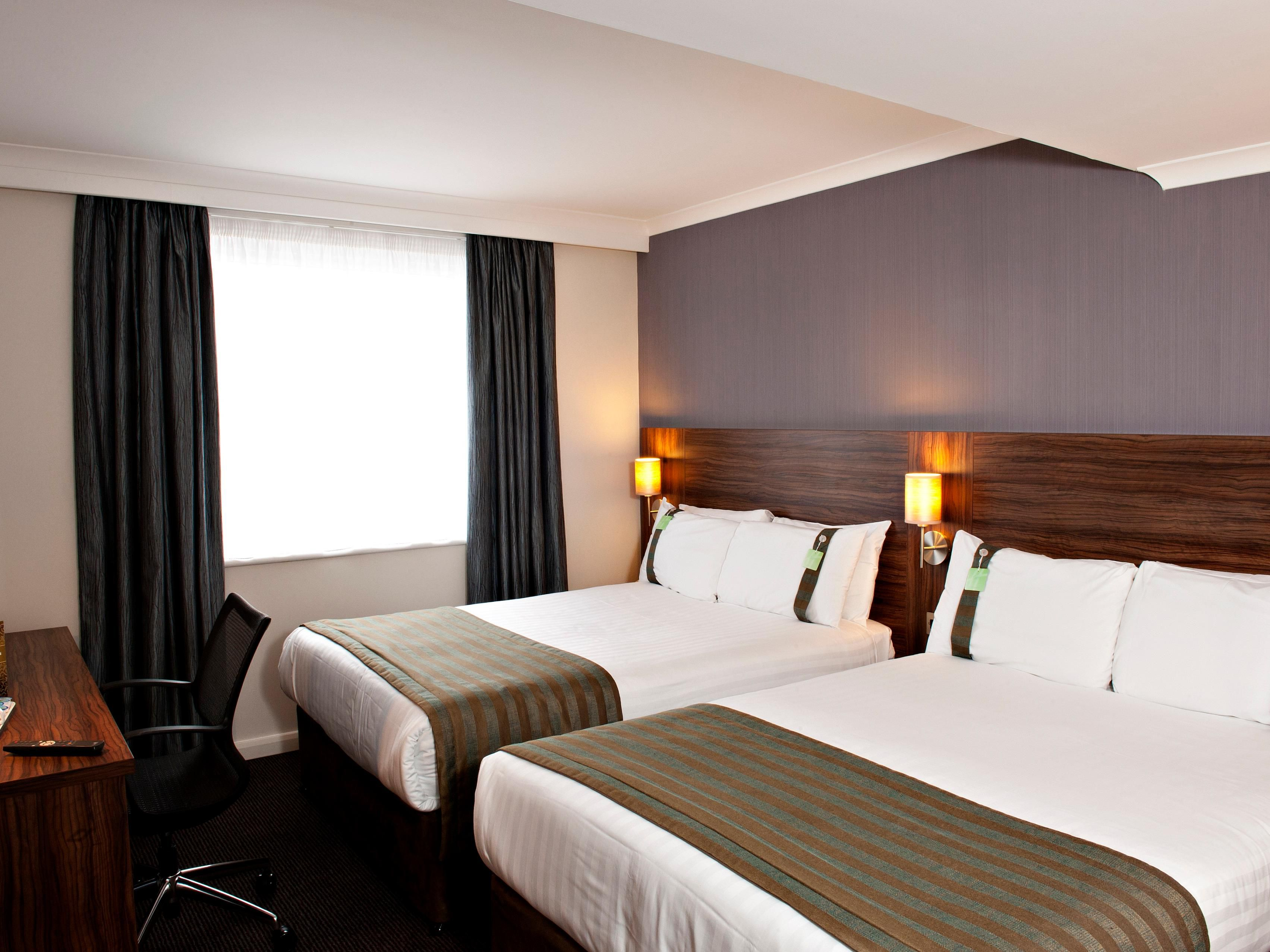 Twin Rooms two Double beds max 2 adults per room