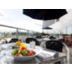 Enjoy alfresco dining with panoramic views of the Olympic park