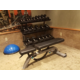 Free weights and weight bench