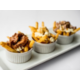The poutine trio! regular, chicken & duck
