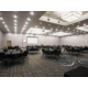 Bugatti Room set up Banquet Style, with built in Projector Screen